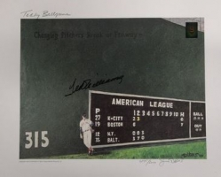 59% off Ted Williams Signed 16x20 - Green Diamond